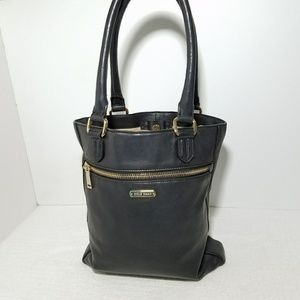 Black Cole Haan Magazine Shoulder Hand Carry Bag